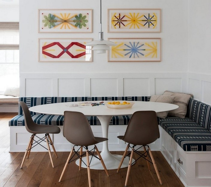 Place Low Stools Or A Bench Around The Table. Low Stools Or A Bench Are A  Great Way To Enhance Your Breakfast Nook. Plus, They Can Easily Be Tucked  Away ...