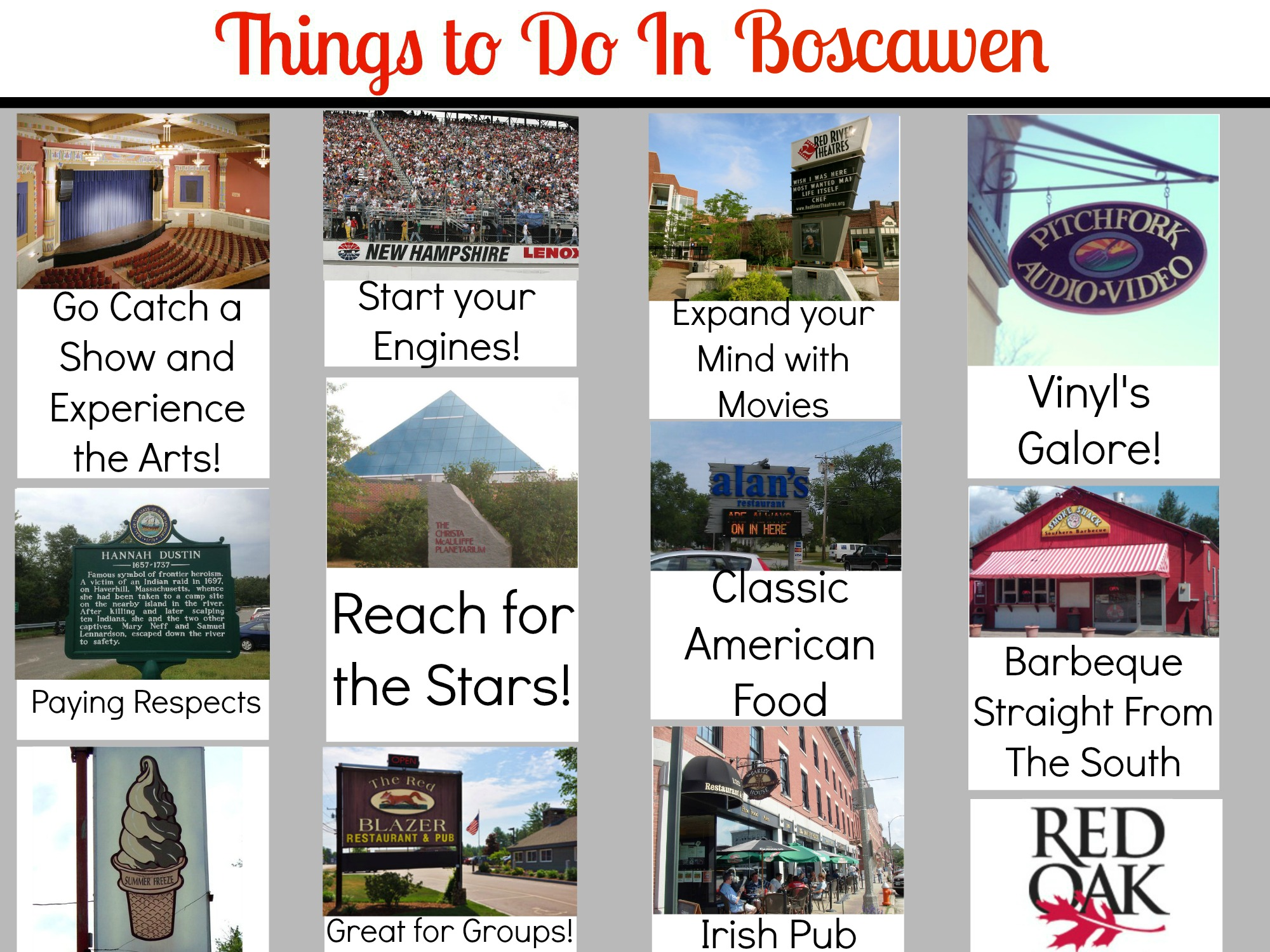 Things to do in Boscawen and Concord New Hampshire