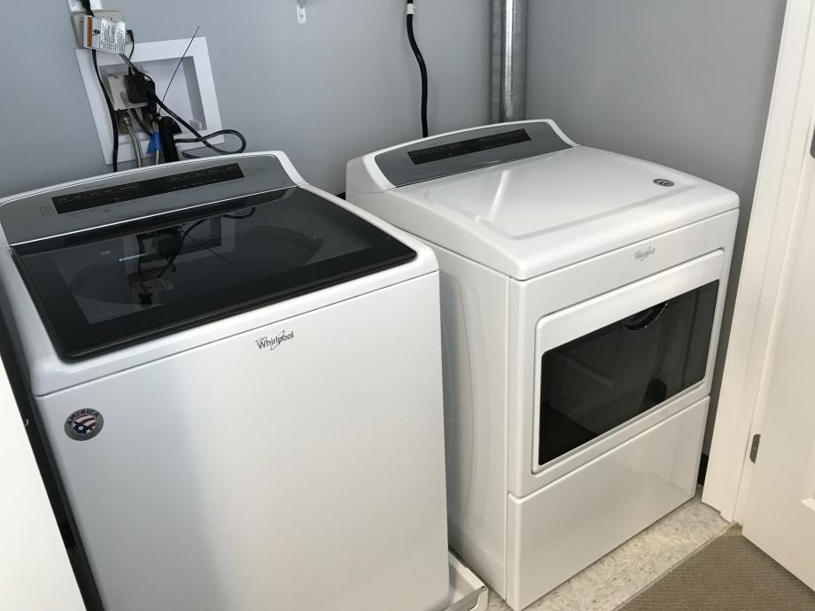 Washer and Dryer in the Townhouse