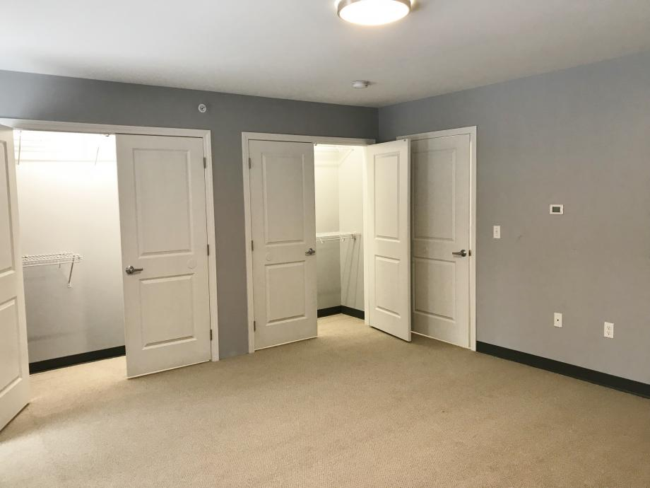 Large closets in Milford Townhouse
