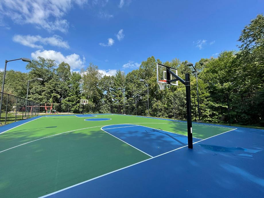 Brand new basketball court at Eastern Trails