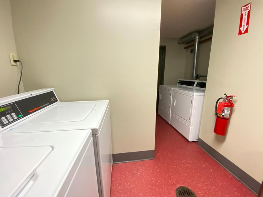 Laundry room in each building